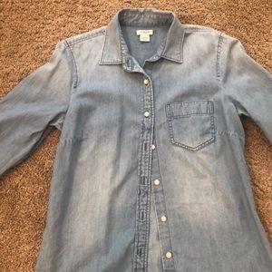 Jcrew women's jean shirt